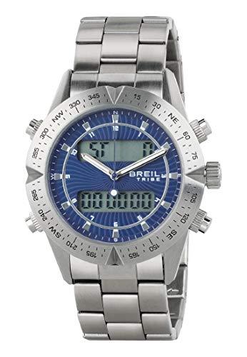 Orologio BREIL per uomo DIGITAL WAY con bracciale in acciaio, movimento DOPPIO TEMPO QUARZO