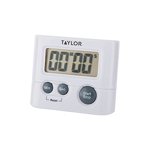 Taylor Precision Products Digital Timer, Displays up to 99 minutes, 59 seconds, White
