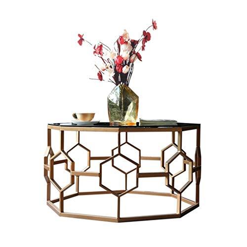 QRFDIAN Sala de Mesa de café de Cristal Templado de Mesa Mesa de Centro Multifuncional - Estructura de Metal Mesas Nido