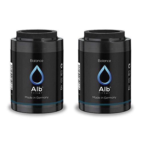 Alb Filter Balance 2er Set Duschfilter Ersatzkartuschen für gesunde Haut und Haare. Reduziert Schadstoffe. Made in Germany