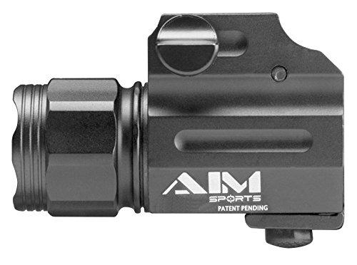 AIM Sports FQ330SC Weapons Flashlight, Black, Sub-Compact, Clear