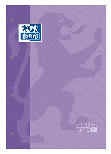 Oxford 100100366 - Bloc - recambios, 80 hojas, A4 160 paginas Violeta