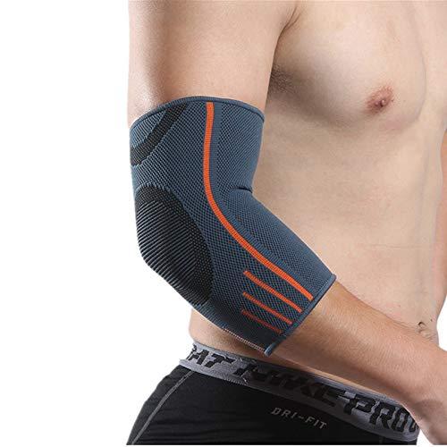 AleXanDer1 Ellenbogenbandage 1 Paar Ellenbogen Unterstützung Preßhülse Elbow-Klammer-Schutz for Workouts Gewicht Arthritis Volleyball Tennis Arm Brace (Color : Dark Grey, Size : S)