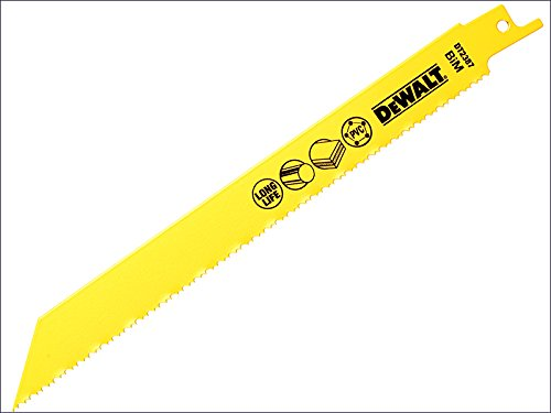 DeWalt – Hoja de sabre de metal para plástico y tubos 203 mm, paquete de 5