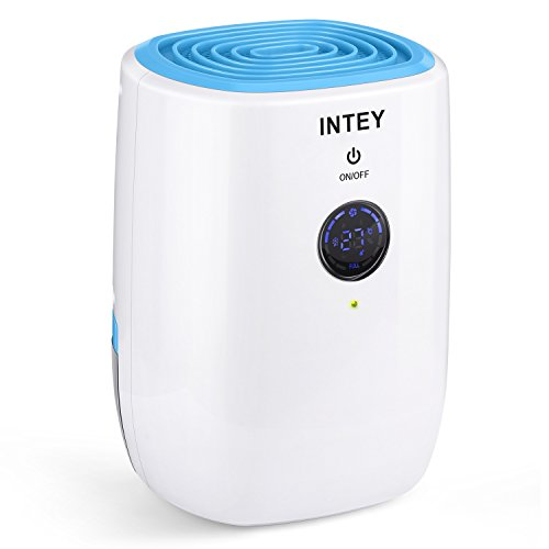INTEY Luftentfeuchter Tragbarer Entfeuchter 3 in 1 Raumentfeuchter gegen Feuchtigkeit, Haushalts Entfeuchter für Schlafzimmer, Kleiderschrank, Bad, Büro, Elektronische Ausrüstung