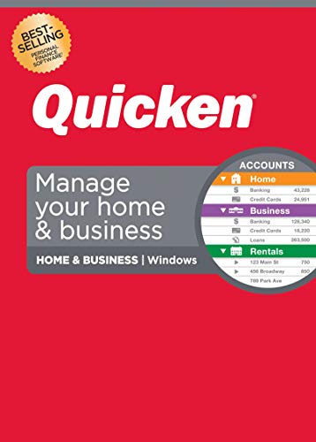 Quicken Home & Business Personal Finance-Track personal and business transactions all in one place– 1Year Subscription (Windows)