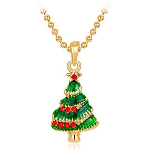 Sweet Collar De Árbol De Navidad, Collar Colgante De Un Solo Árbol De Navidad, Collar De Navidad para Mujer