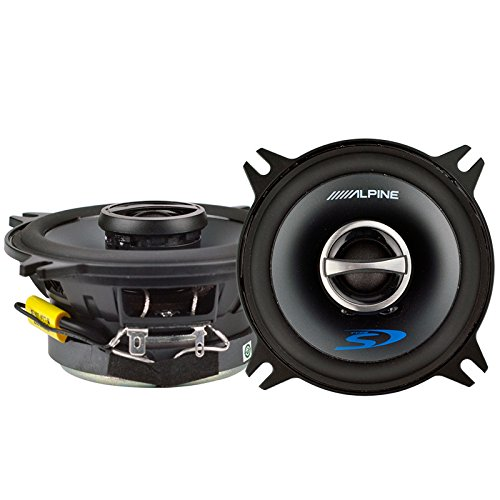Alpine 4' Coaxial 2 Way 140W 4 Ohm Wide Range Car Audio Speakers SPS-410 (Pair)