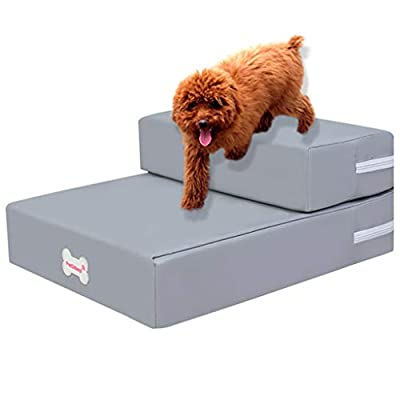 010 Doggy Steps - Non-Slip 2 Steps Pet Stairs,H...