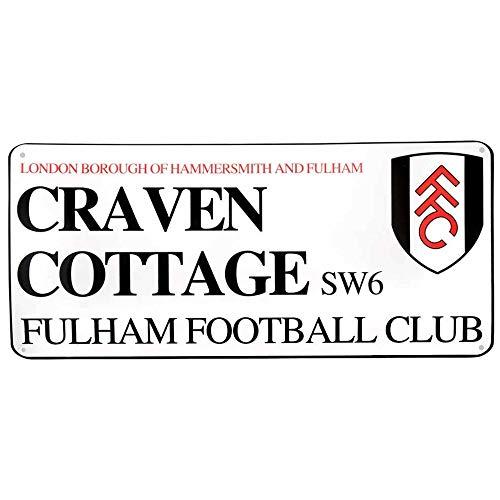 Official Fulham FC Craven Cottage Stadium Street Sign (40cm x 18cm)