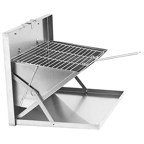 CampFeuer Edelstahl Faltgrill Nevada | 40,5 x 30 x 2,5 cm | Klappgrill | Campinggrill für Hiking und Outdoor