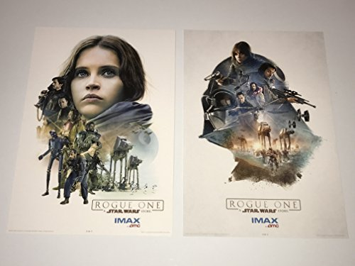 Star Wars Rogue One (2016) Promo AMC IMAX Exclusive Poster Lot of 2 Jyn Erso & Darth Vader Style Mini One Sheet Movie Posters Felicity Jones