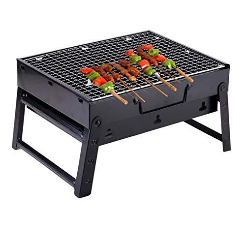Vobajf Barbacoas de carbón Parrilla al Aire Libre portátil Parrilla de Acero Inoxidable Barbacoa Plegable Parrillas de carbón para Campada Pinnic Kebab Barbacoa Horno Barbacoas de carbón