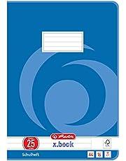 Herlitz 3322500 - Cuaderno, 10 unidades, A4/16, diseño 25 (renglones con margen), certificado FSC Mixed, diseños variados