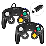 9. Gamecube Controller, VOYEE Wired Game Cube Gamepads 2 Pack for Nintendo Gamecube & Wii Console (Black)