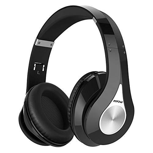 Mpow 059 Cuffie Bluetooth 5.0, Cuffie Wireless con Autonomia 65 Ore, Cuffie Over Ear Nuova Versione, Microfono Incorporato CVC6.0, Fascia Morbida Pieghevole, Qualità Audio Hi-Fi per TV, Cellullari, PC