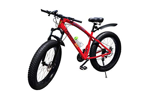 Phantom Set Fat Bike 26 Zoll 21 Gang Shimano Fat Mountain Bike L rot