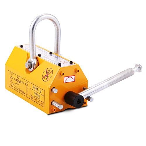 VEVOR Hebemagnet 300kg Magnetlifter Magnetheber N45 Neodymium Lifting Magnet gelb (300kg)