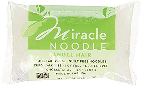 Miracle Noodle Angel Hair Pasta - Plant Based Shirataki Noodles, Keto, Vegan, Gluten-Free, Low Carb, Paleo, 0 Calories, Soy Free, Non-GMO - Perfect for Your Keto Diet - 7 oz (Pack of 4)