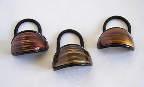 Pack von 3Perle in verschiedenen Brauntönen. Gratis Versand 72H
