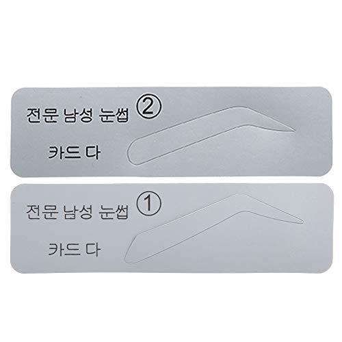 Pochoirs à sourcils, 5 modèles de sourcils, plastique pour usage professionnel usage personnel