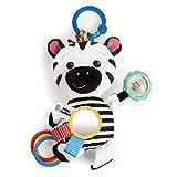 Baby Einstein Bright Starts Zen's Sensory Play Plush Stroller Activity Toy, Ages Newborn, Multicolor