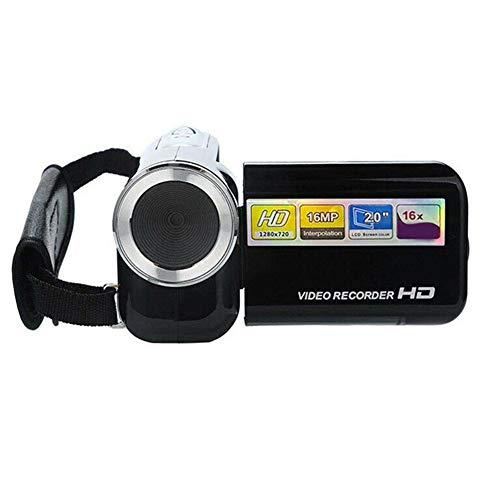 Teekit - Cámara de vídeo para niños de 2 Pulgadas, grabadora de vídeo de 16 megapíxeles para el hogar al Aire Libre, Negro, Small