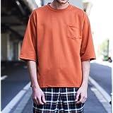タイムリーワーニング Timely Warning 5分袖 Tシャツ ポンチ メンズ オレンジ Mサイズ