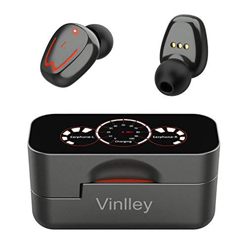 Bluetooth Kopfhörer, Kabellose Kopfhörer in Ear Bluetooth Headset mit Stereo Sound Mikrofon Sport Ohrhörer IPX7 Wasserdichte, 120 Stunden Spielzeit mit Type-C Schnellladen Ladekoffer, für Sport Fahren