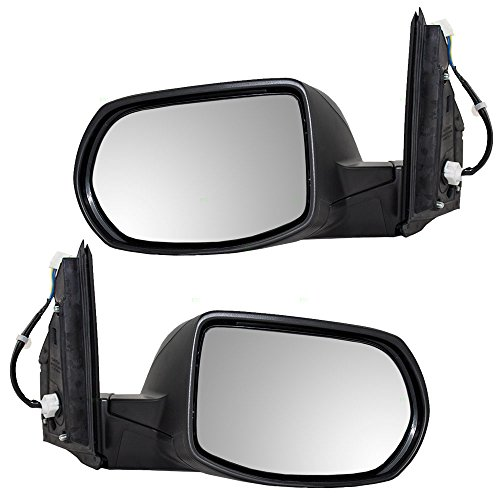 Driver and Passenger Power Side View Mirrors Heated Replacement for 12-16 Honda CR-V 76258-T0A-A21 76208-T0A-A21
