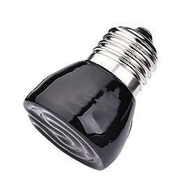 KDSFXG Far-Infrared Ceramic Pet Heating Lamp, Ceramic Heat Emitter 100w, Heater Pet Ceramic Heat Bulb for Reptiles/Lizards/Tortoise/Chicken/breeding heat lamps