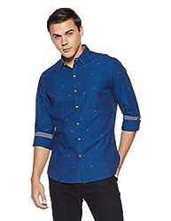 John Players Mens Solid Slim Fit Casual Shirt
