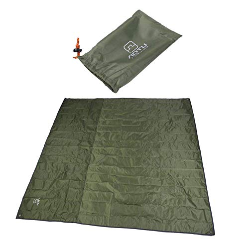 DAUERHAFT Manta de Picnic Almohadilla para Dormir Impermeable Colchoneta de Camping Resistente Colchoneta de Tienda, para Actividades al Aire Libre(Army Green)