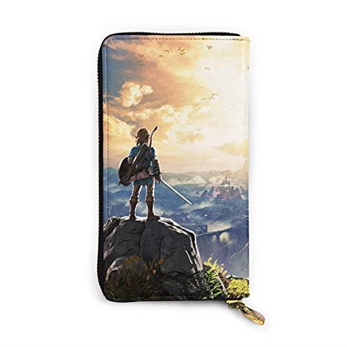 XCNGG Starga-Te Sg1 Brieftasche, RFID Blocking Echtleder Zip-Around Brieftaschen Geldbörse Reisetasche um Kartenhalter Organizer Clutch Bag