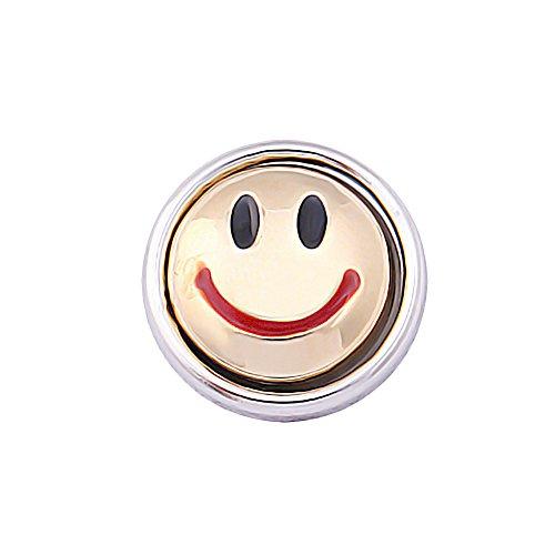 Mini Click Small Button Druckknöpfe Petite klick Armband kompatibel mit Chunks Gold Farben Damen Armreif Modele 12mm Auswahl Kirschen Sterne Strass Steine Schmuck kleine knöpfe Snaps - Akki SC589GO