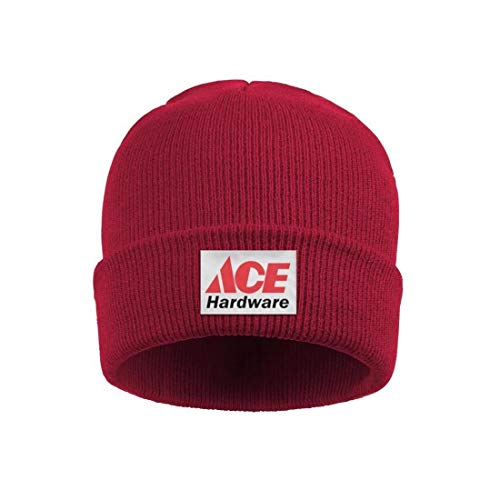 Headwear for Mens Womens Chunky Ace-Hardware-Logo-Symbol- Solid Color Knit Hat