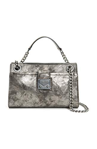 Frye Women's Ella Double Handle Crossbody Bag, Gunmetal, One Size