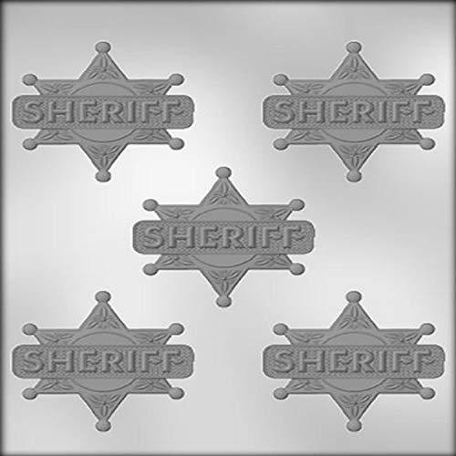 CK Products Moule à chocolat en forme de badge Shériff 6,35 cm