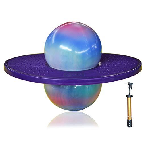 Du Du Gymnastikball Hüpfball Ball Hüpfen Spaß Jumping Ball Balance Board Trainieren Gleichgewichtssinn und die Geschicklichkeit für Yoga und Hält Kindheit (Lila)