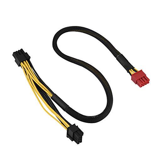 Richer-R 8-Pin PCI Express Grafikkarten Stromkabel, 50cm 8-Pin Stecker zu Dual 8-Pin(6 + 2) PCI Express Grafikkarte Netzteilkabel PCI-E Stromadapter für Antec