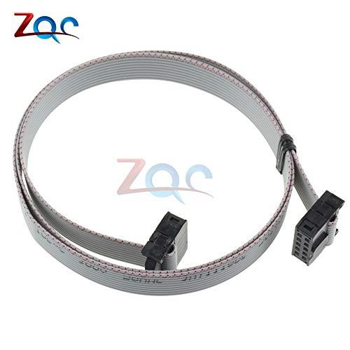 70CM 10 Pin USB ASP ISP JTAG AVR Wire 10P IDC flach Band DATENKabel 2,54 mm Stecker