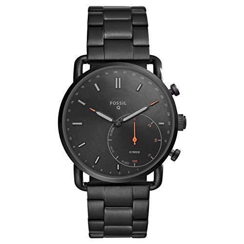 Fossil Hybrid - Reloj Inteligente con Correa de Acero Inoxidable Negro para Hombre - FTW1148