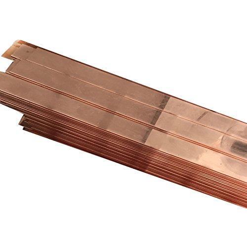 2PCS 99 % 구리 T2 CU 금속 플랫 바 플레이트 1.5MM X 15MM X 250MM