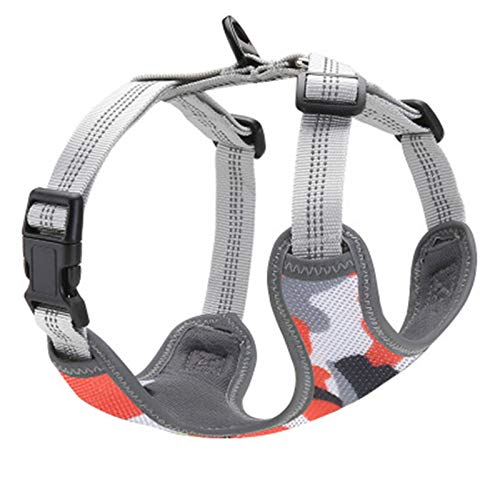 BAIZAN No Pull Training Easy on and Off Pet Chest Harness,Luminous Vest Size Adjustable and No Choke Pet Vest Harness,2,XS