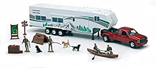 New Ray Toys 1/32 Fifth Wheel Camping Set w/ Outdoor Activities and Miniatures