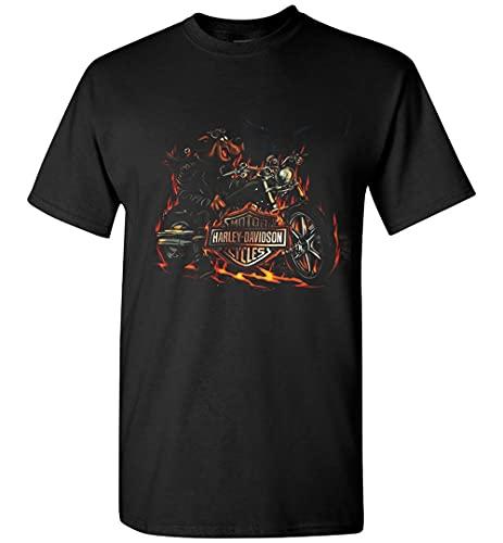 Scooby Doo Motor Harley Davidson - Scooby Davidson Vintage - Camiseta de Halloween feliz, camiseta negra, L