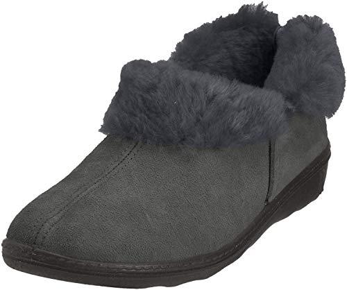 Romika Romilastic 102, Damen Pantoffeln, Grau (Anthrazit 700), 40 EU