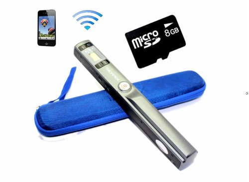 : Free 8g blue Hard Bag   Skypix Tsn44w Wireless Wifi Handheld A4 Document Scanner