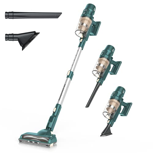 ORFELD Cordless Vacuum, 22000pa 5-in-1 Stick Vacuum Cleaner, Excellent 60 Minutes Runtime, Smart Sensor Tech with Dual Motor for Deep Clean Whole House