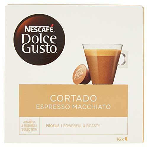 Nescafé Dolce Gusto Cortado Espresso Macchiato Caffè Macchiato, 16 Capsule